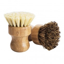 Beech and bamboo handles pot clean brushes